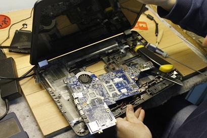 Процесс разборки ноутбука HP